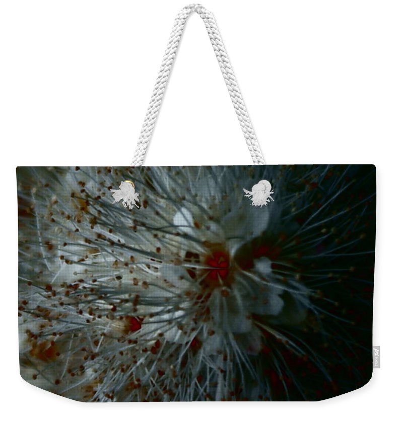 Macro Photography Of Floral Weekender Tote Bag featuring the photograph Snowdrop by Joanne Smoley