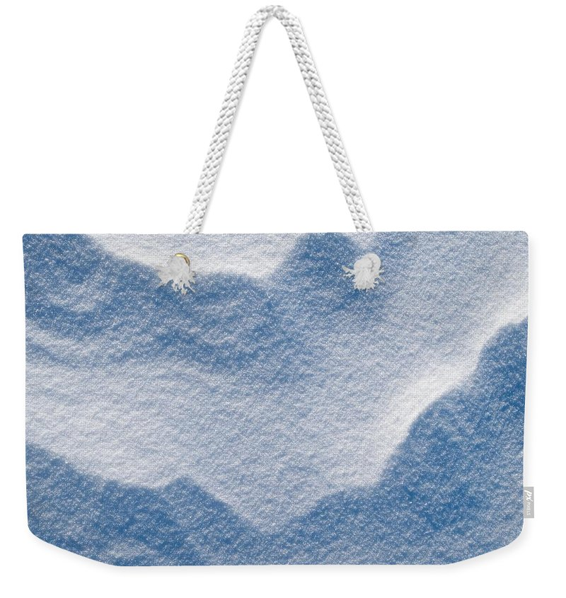 Talvi Weekender Tote Bag featuring the photograph Snowforms 3 by Jouko Lehto