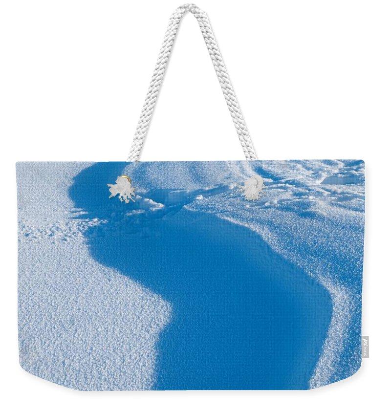 Talvi Weekender Tote Bag featuring the photograph Snowforms 4 by Jouko Lehto