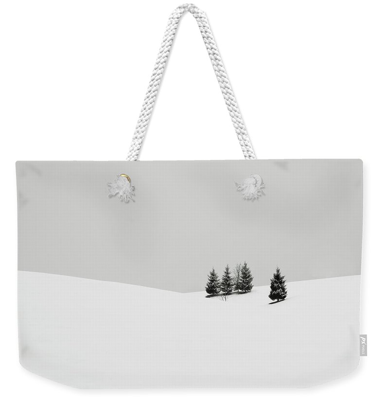 Contemporary Weekender Tote Bag featuring the photograph Snowscapes  Almost there by Ronny Behnert