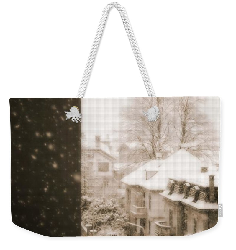 Snow Weekender Tote Bag featuring the photograph Snowy Afternoon by Silvia Ganora