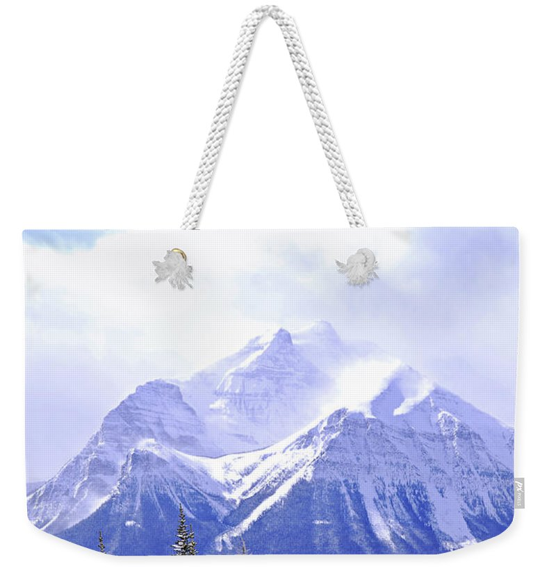 Mountain Weekender Tote Bag featuring the photograph Snowy Mountain by Elena Elisseeva