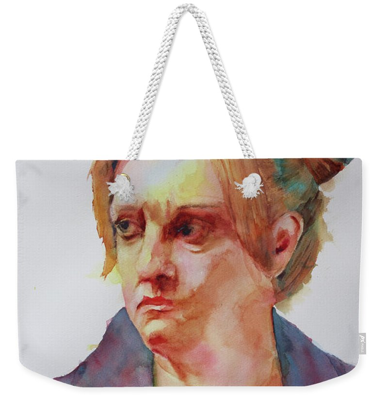 Portrait Weekender Tote Bag featuring the painting So You Say by Melanie Harman