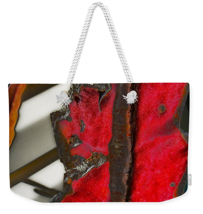 Plant Weekender Tote Bag featuring the photograph Soaked By Sorrow by Mykel Davis