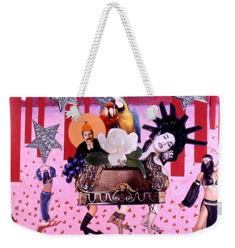 Collage Weekender Tote Bag featuring the drawing Soap Scene # 28 You Have Seen That Movie Too by Minaz Jantz