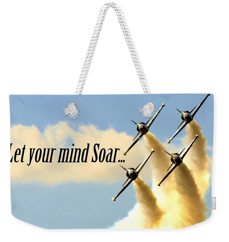 Soar Weekender Tote Bag featuring the photograph Soar by Lisa Renee Ludlum
