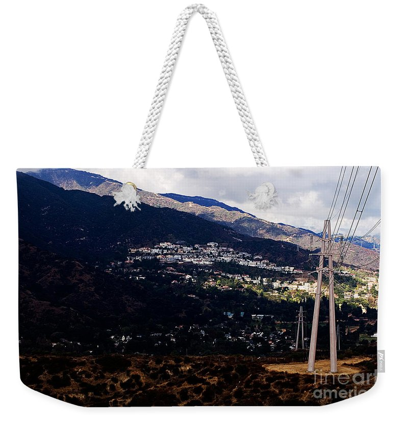 Clay Weekender Tote Bag featuring the photograph Socal Fire Road by Clayton Bruster