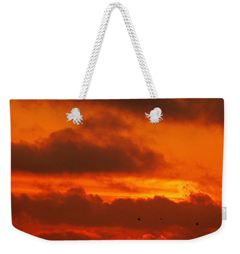 Clay Weekender Tote Bag featuring the photograph Socal Sunset by Clayton Bruster