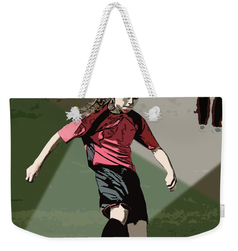 Soccer Weekender Tote Bag featuring the photograph Soccer Style by Kelley King