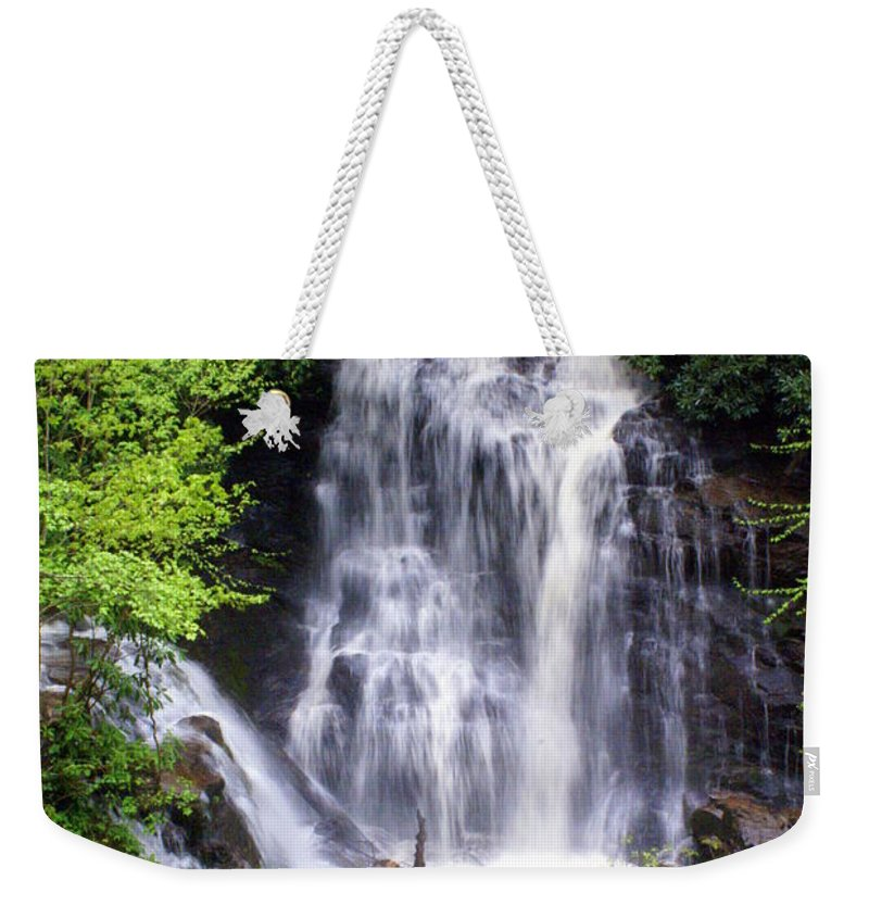 Soco Galls Weekender Tote Bag featuring the photograph Soco Falls 1 by Marty Koch
