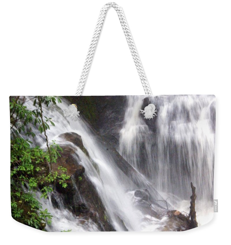 Soco Galls Weekender Tote Bag featuring the photograph Soco Falls 2 by Marty Koch