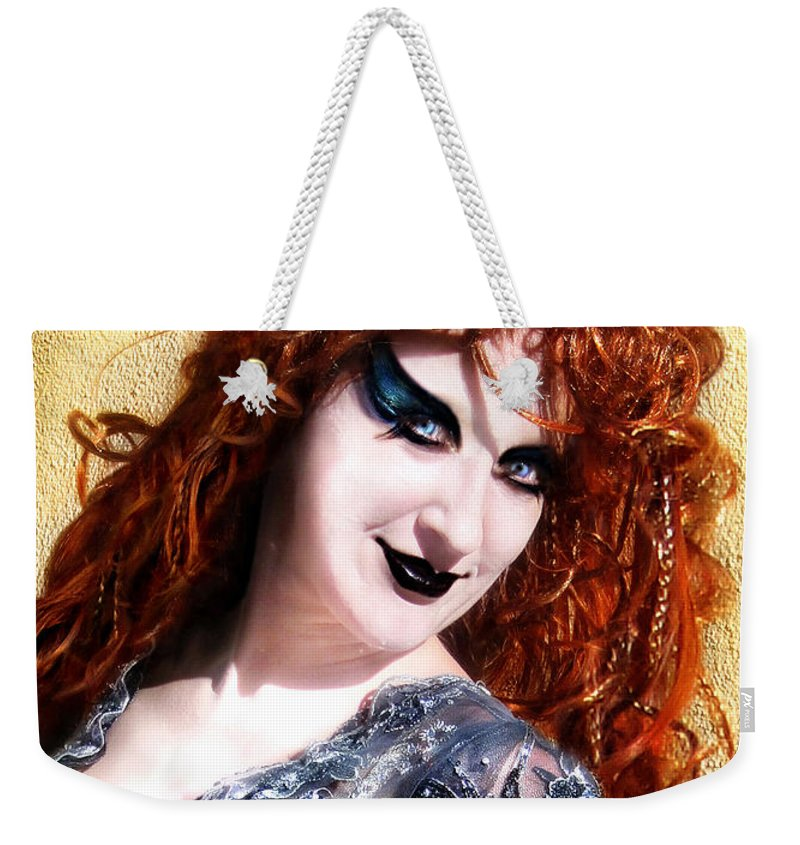 Sofia Weekender Tote Bag featuring the photograph Sofia Metal Queen. Fashion Portrait by Sofia Metal Queen