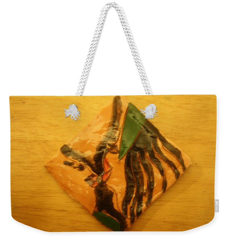 Jesus Weekender Tote Bag featuring the ceramic art Sofias Gal - Tile by Gloria Ssali