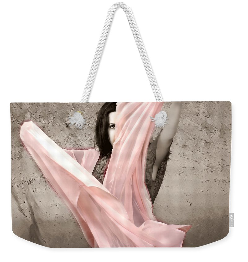 Clay Weekender Tote Bag featuring the photograph Soft And Sensual by Clayton Bruster