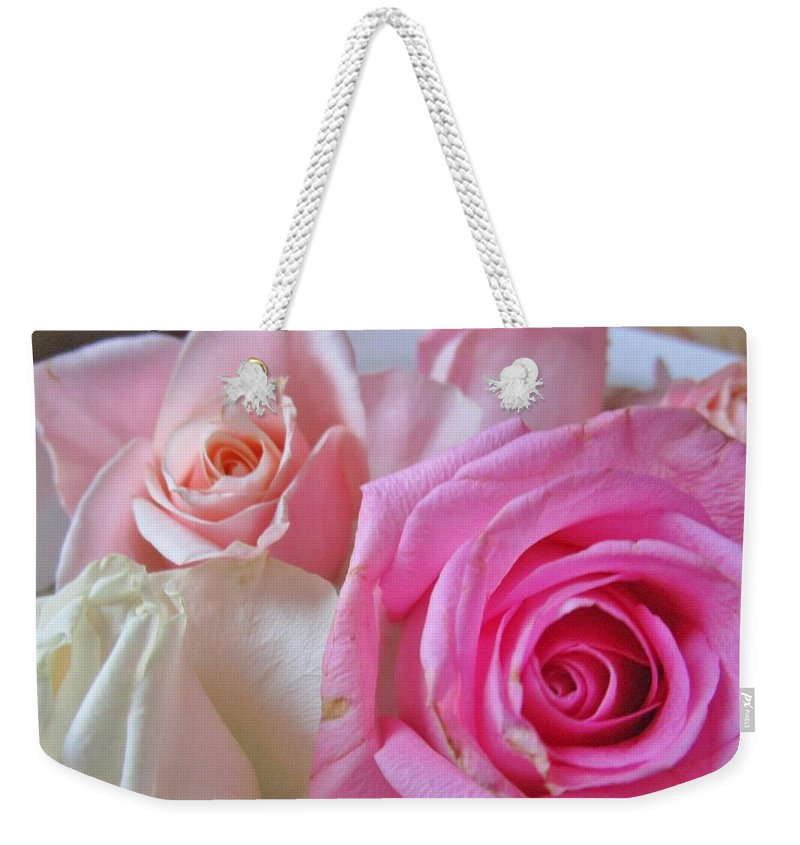 Roses Weekender Tote Bag featuring the photograph Soft And Sweet by Rosita Larsson