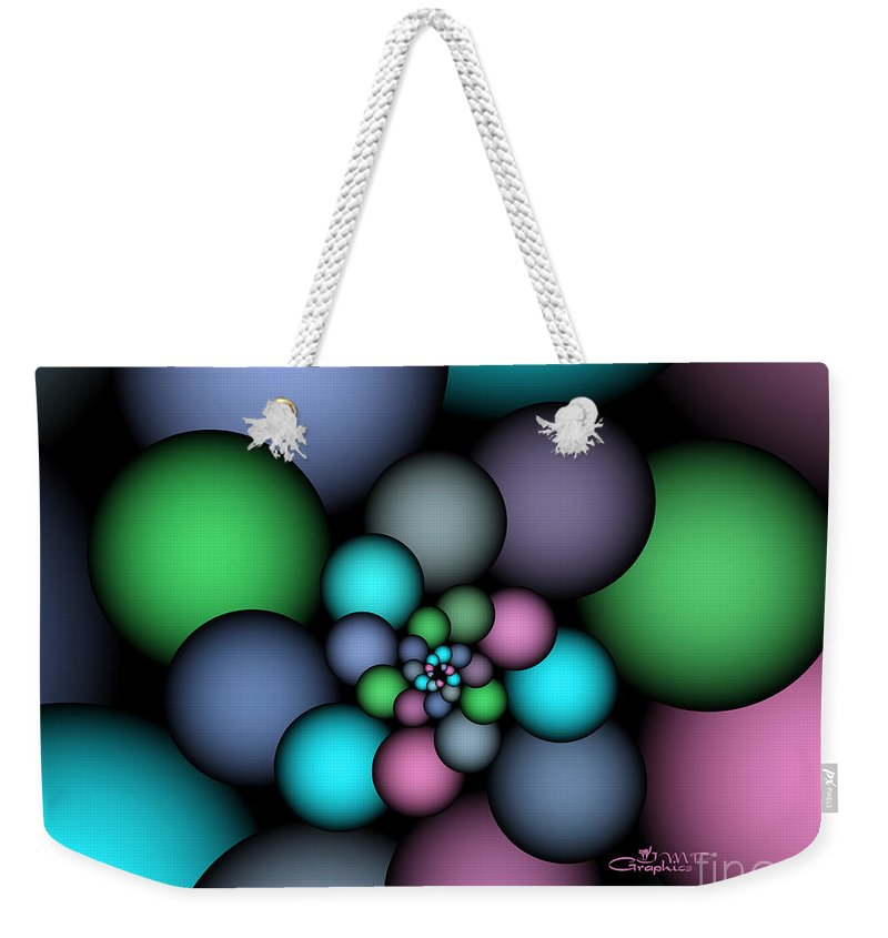 Fractal Weekender Tote Bag featuring the digital art Soft Balloons by Jutta Maria Pusl