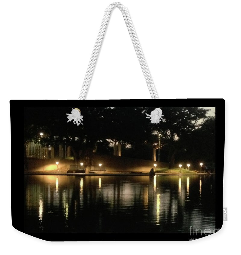 Night In The City Weekender Tote Bag featuring the photograph Soft Evening At Palmer Pond Poster Black Border No Text by Felipe Adan Lerma