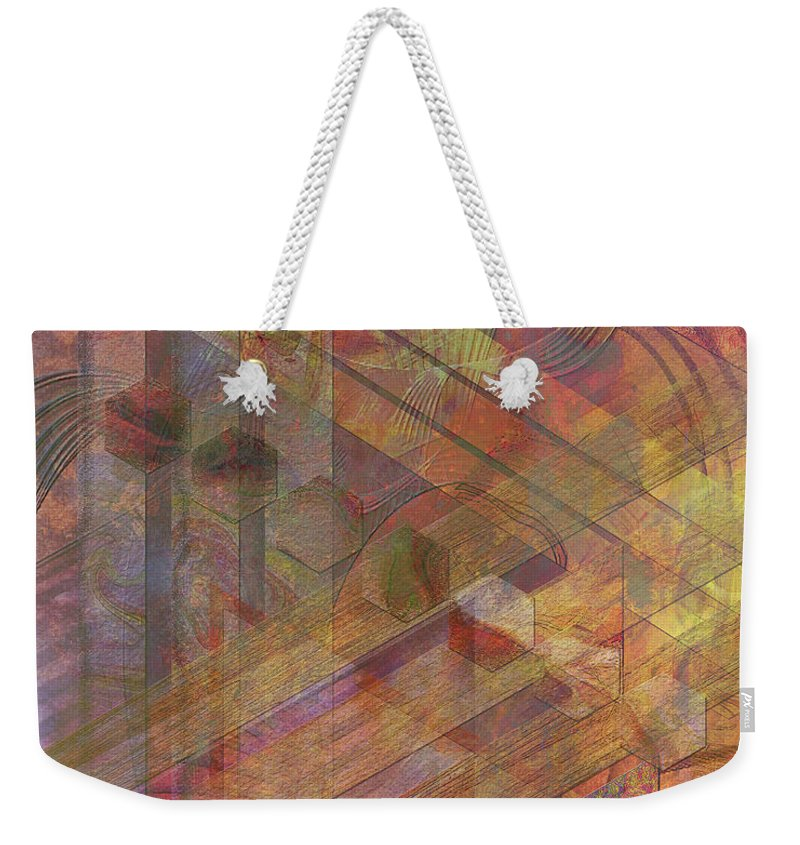 Soft Fantasia Weekender Tote Bag featuring the digital art Soft Fantasia by John Beck