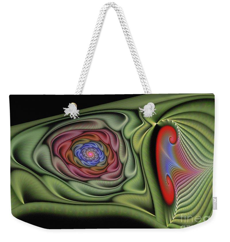 Fractal Weekender Tote Bag featuring the digital art Soft Glamore by Deborah Benoit