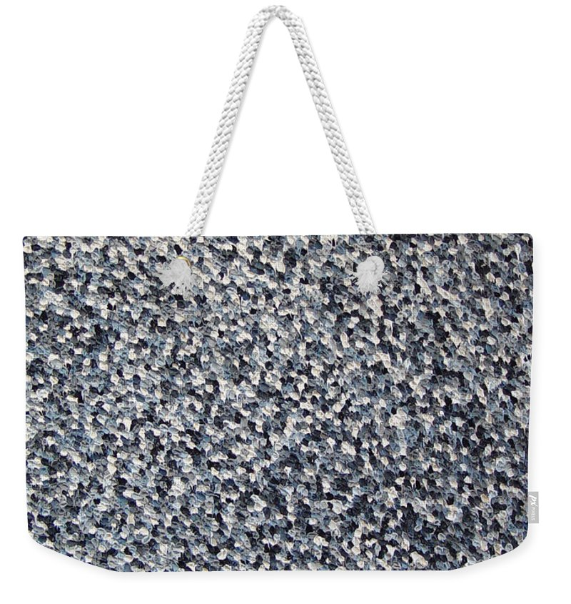 Abstract Weekender Tote Bag featuring the painting Soft Grey Scale by Dean Triolo