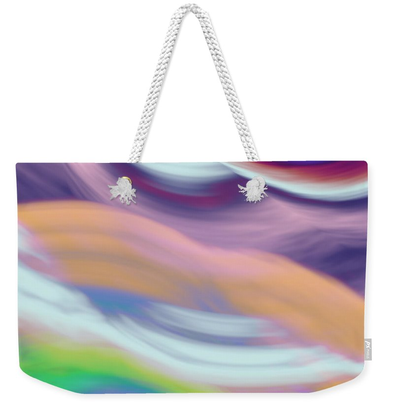 Art Weekender Tote Bag featuring the digital art Soft Hues by Candice Danielle Hughes