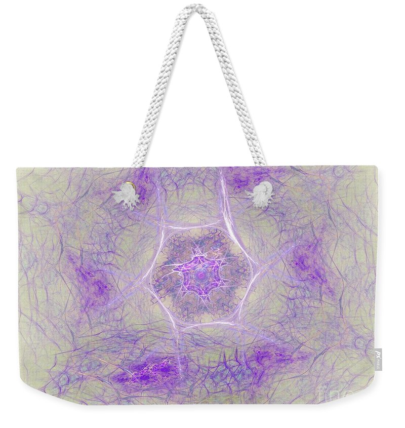 Weekender Tote Bag featuring the digital art Soft Lavender by Deborah Benoit