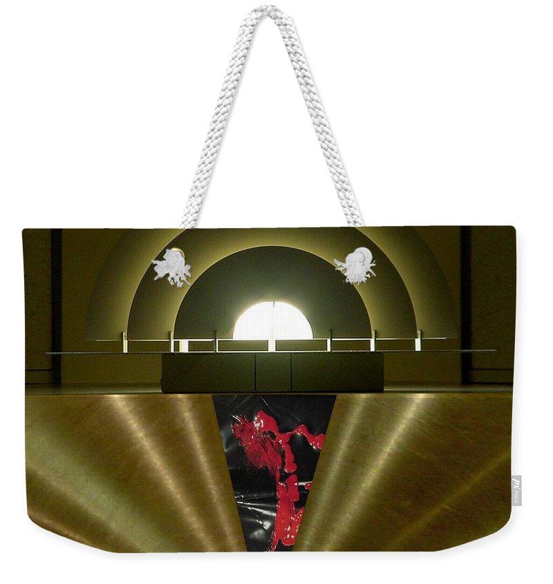 Digital Weekender Tote Bag featuring the digital art Soft Light Hard Surface by Ron Bissett
