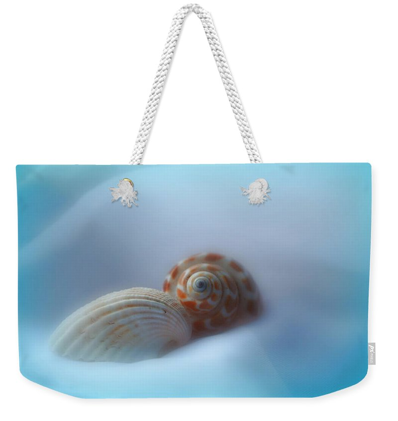Nature Weekender Tote Bag featuring the photograph Soft Shells by Linda Sannuti
