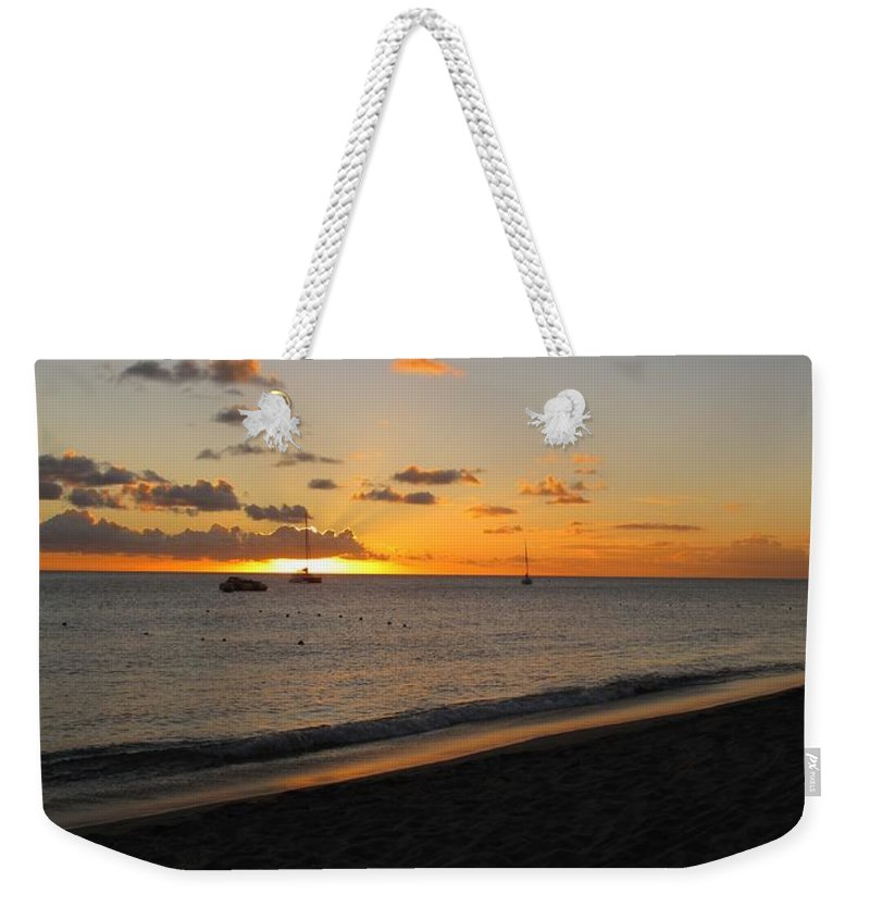 Sunset Weekender Tote Bag featuring the photograph Soft Warm Quiet Sunset by Ian MacDonald