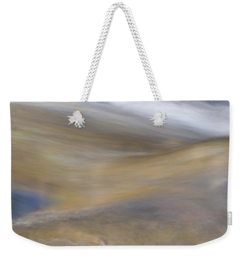 Abstract Weekender Tote Bag featuring the photograph Soft Water by Maria Coulson