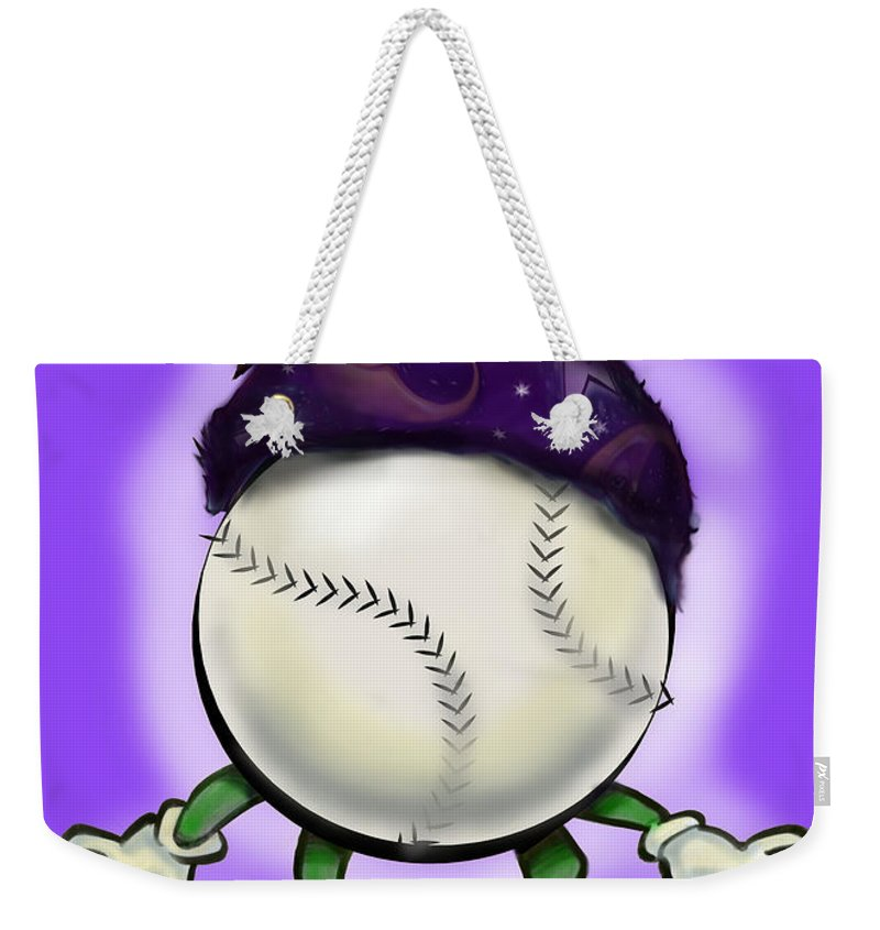Softball Weekender Tote Bag featuring the digital art Softball Wizard by Kevin Middleton
