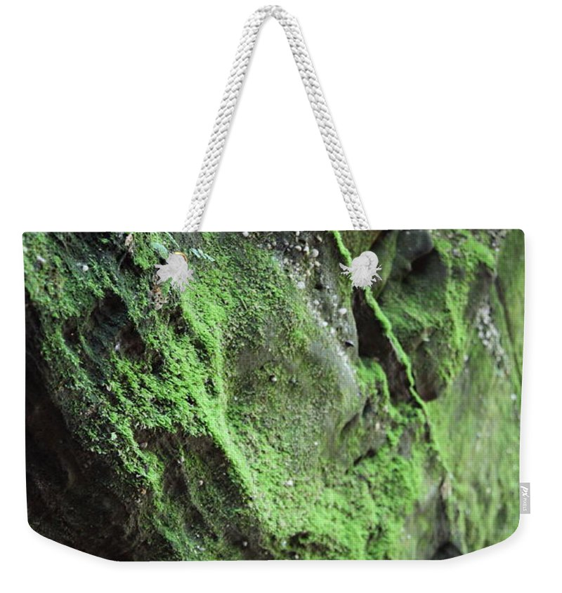 Rocks Weekender Tote Bag featuring the photograph Soften The Moment by Amanda Barcon