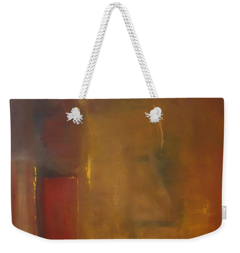 Weekender Tote Bag featuring the painting Softly Reflecting by Jack Diamond