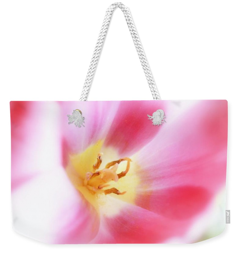 Flower Weekender Tote Bag featuring the photograph Softly by Toni Hopper