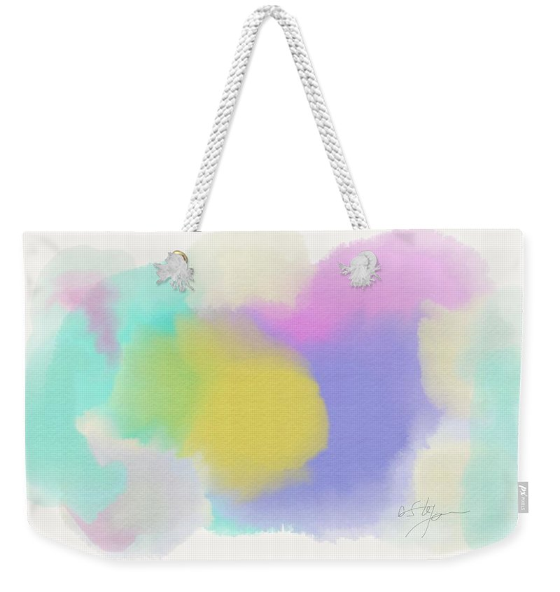 Painting Weekender Tote Bag featuring the painting Softness by Cristina Stefan