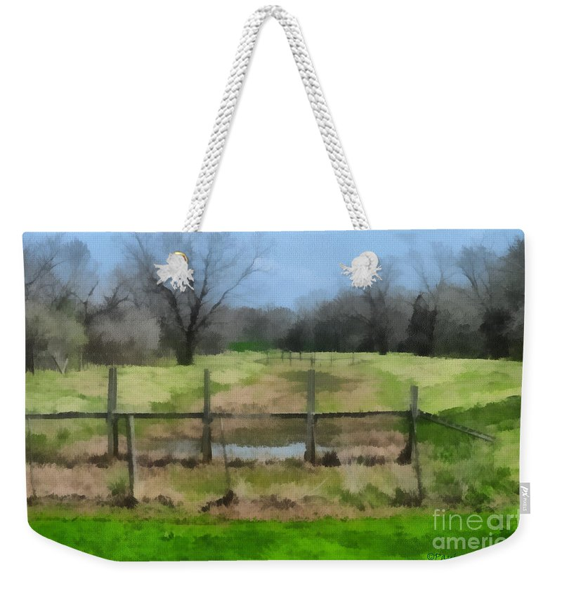 Corporate Weekender Tote Bag featuring the photograph Soggy Texas Bayou by Paulette B Wright
