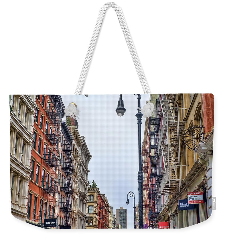 Soho Weekender Tote Bag featuring the photograph Soho by June Marie Sobrito