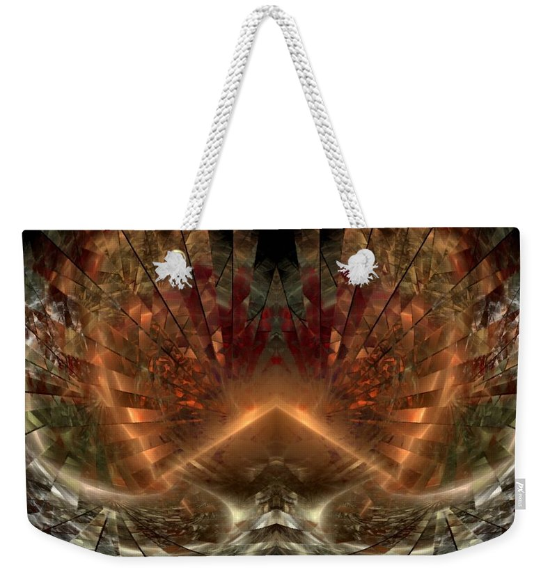 Sun Weekender Tote Bag featuring the digital art Sol Invictus by NirvanaBlues