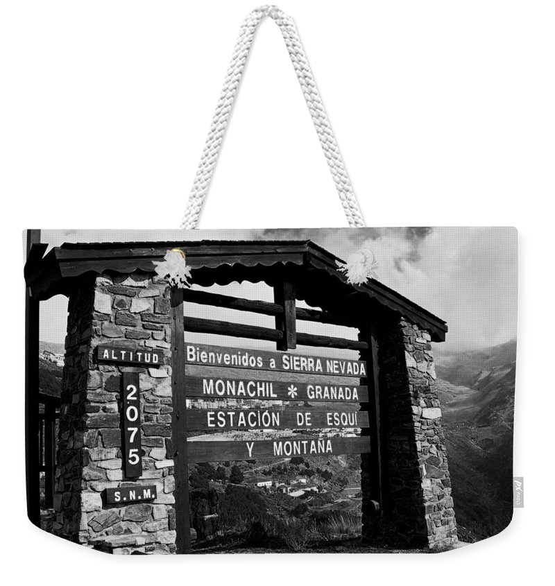 Europe Weekender Tote Bag featuring the photograph Sol Y Nieve ... by Juergen Weiss