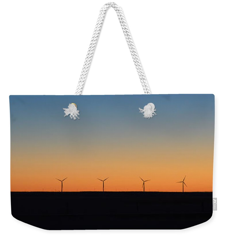Solar Weekender Tote Bag featuring the photograph Solar And Wind by Whispering Peaks Photography