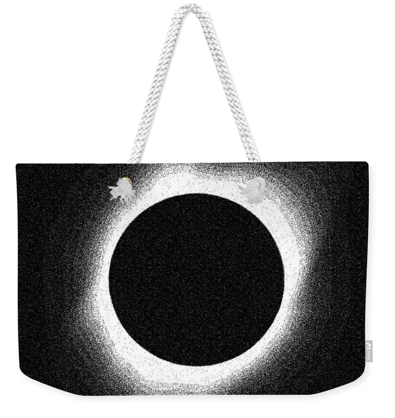 Sun Weekender Tote Bag featuring the painting Solar Eclipse 2017 by Celestial Images