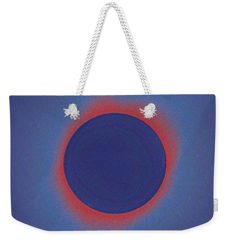 Sun Weekender Tote Bag featuring the painting Solar Eclipse, As Seen Above Madras, Oregon, U.s. By Nasa 3 by Celestial Images