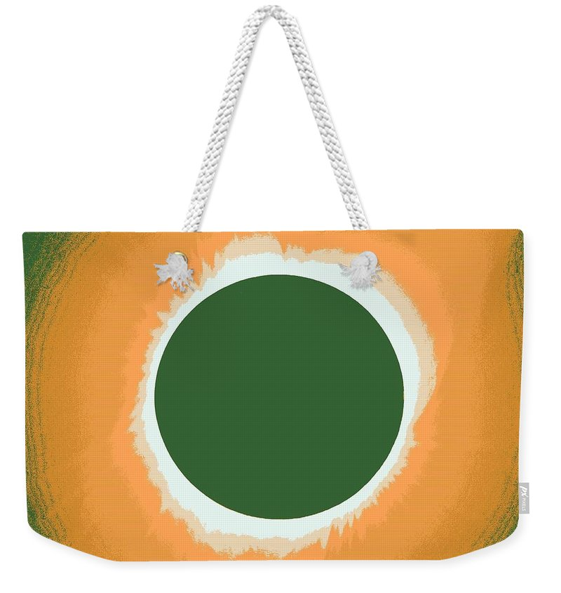 Sun Weekender Tote Bag featuring the painting Solar Eclipse Poster 5 by Celestial Images