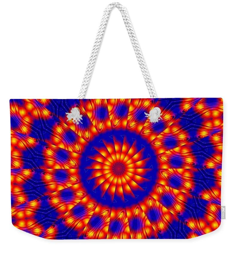 Sun Weekender Tote Bag featuring the digital art Solar Energy by Robert Orinski