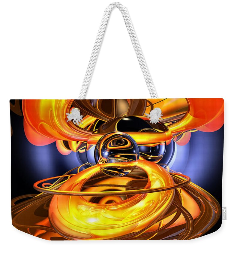 3d Weekender Tote Bag featuring the digital art Solar Flare Abstract by Alexander Butler