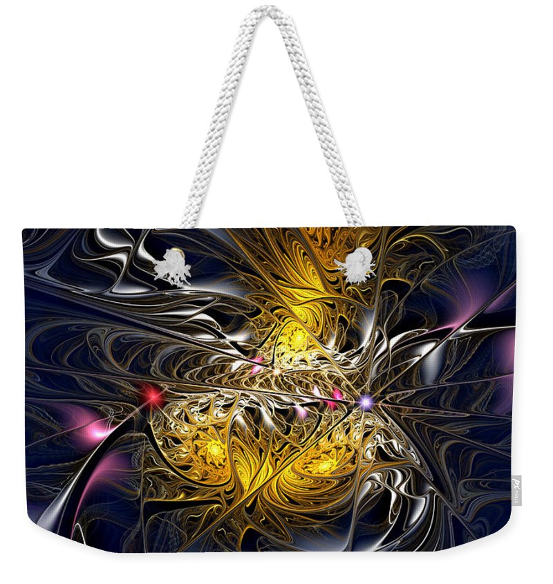 Abstract Weekender Tote Bag featuring the digital art Solar Winds by Casey Kotas