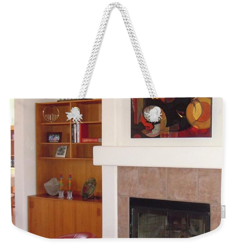 Diptychs Weekender Tote Bag featuring the painting Sold by Marlene Burns