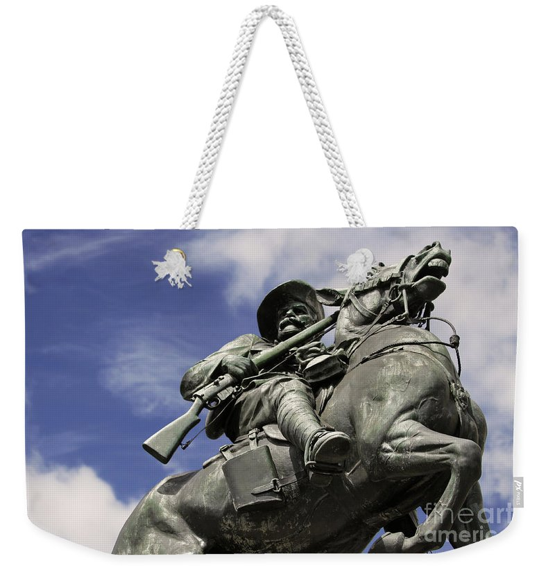 Horse Weekender Tote Bag featuring the photograph Soldier In The Boer War by Stephen Mitchell