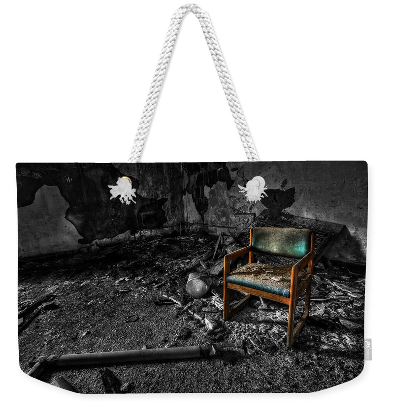 Chair Weekender Tote Bag featuring the photograph Sole Survivor by Evelina Kremsdorf