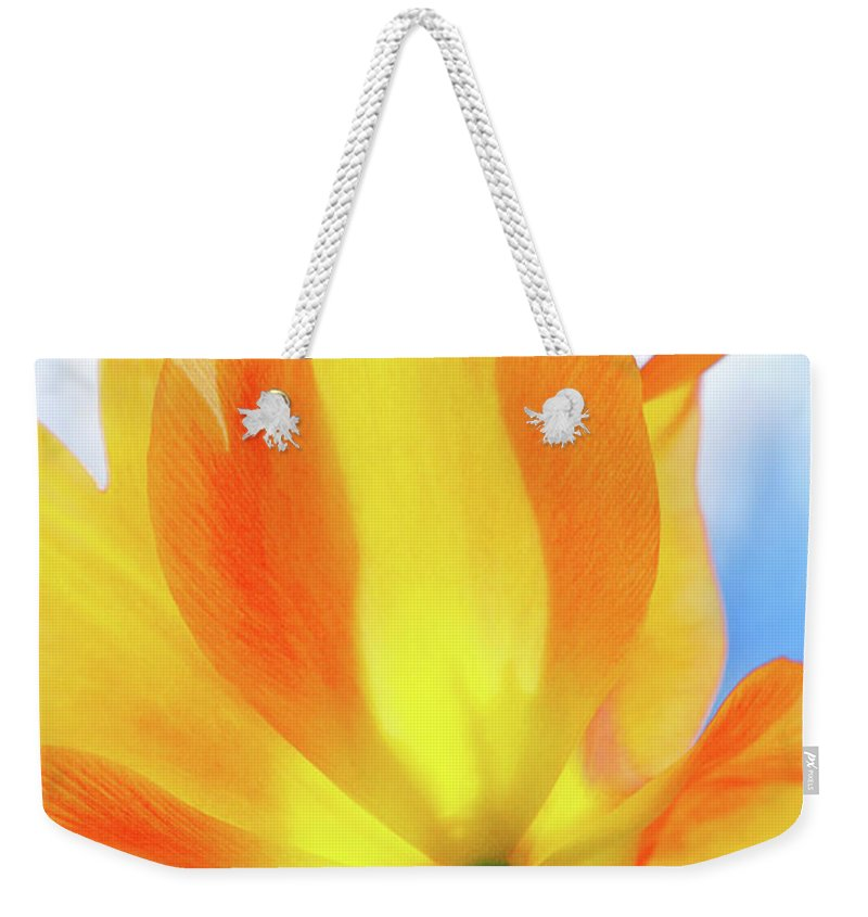 Yellow Weekender Tote Bag featuring the photograph Soleggiato by Iryna Goodall